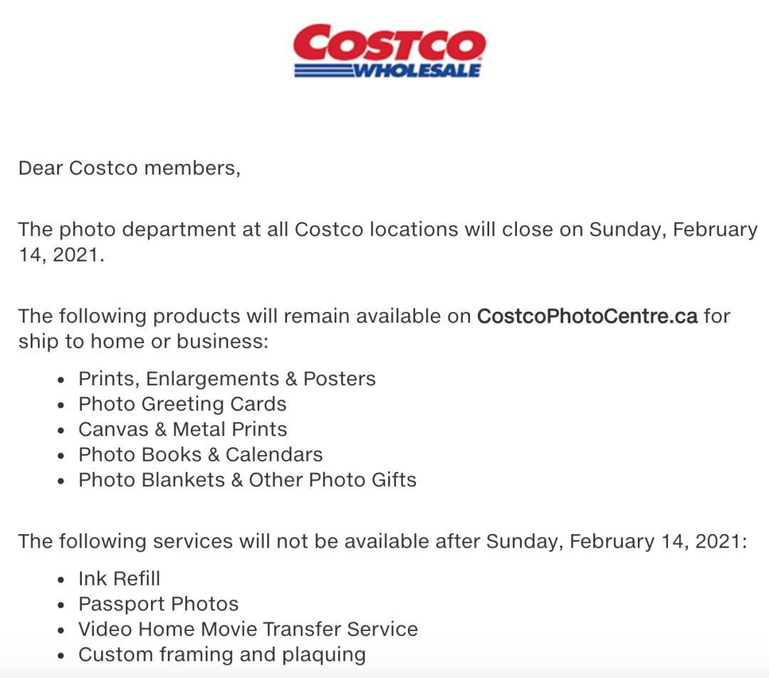哭了!加拿大所有Costco门店永久关闭这项服务!